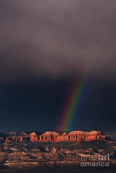 Photograph - Rainbow Highlights The Aquarius Plateau Bryce Canyon National Park Utah by Dave Welling