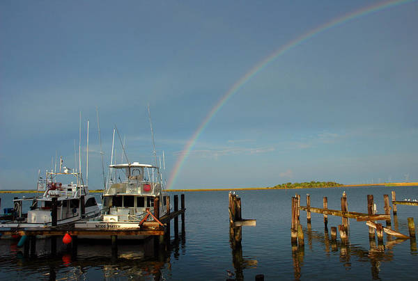 Photograph - Rainbow In Apalachicola Fl by Susanne Van Hulst