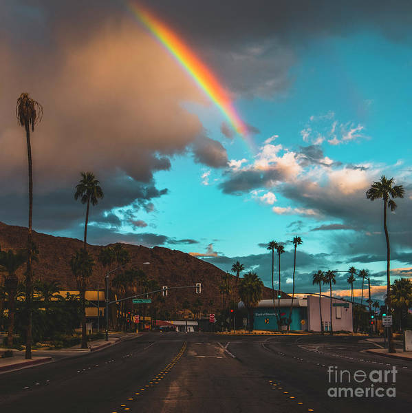 Aerial Tramway Wall Art - Photograph - Rainbow In Palm Springs by Art K