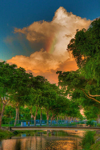 Wall Art - Photograph - Rainbow In The Clouds by William Wetmore