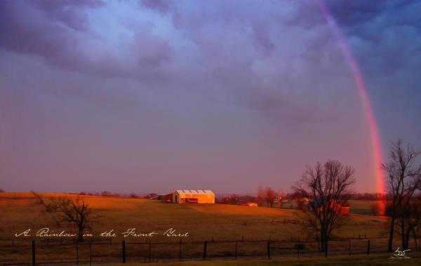 Photograph - Rainbow In The Yard by Sam Davis Johnson