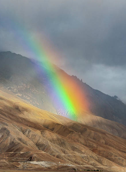 Photograph - Rainbow, Kaza, 2008 by Hitendra SINKAR