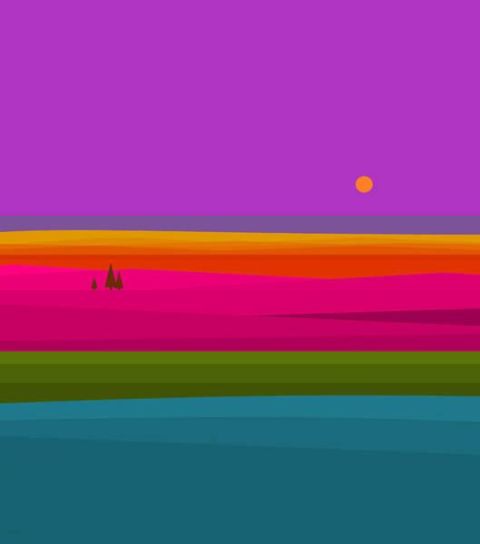 Digital Art - Rainbow Landscape by Val Arie