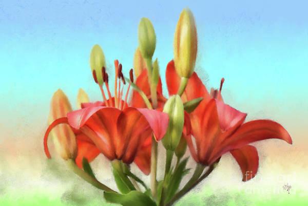 Photograph - Rainbow Lilies by Lois Bryan