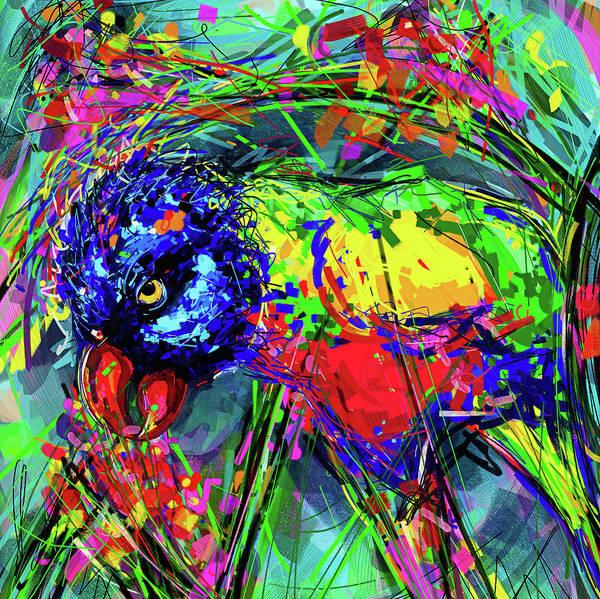 Jade Mixed Media - Rainbow Lorikeet by Jade Knights