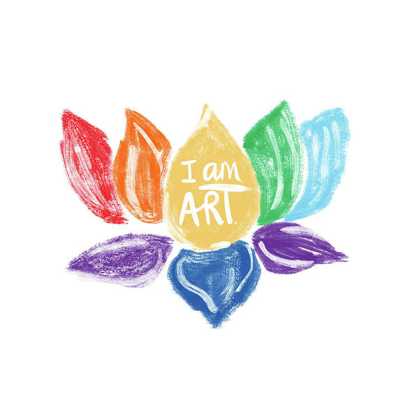 Lotus Mixed Media - Rainbow Lotus I Am Art- Art By Linda Woods by Linda Woods