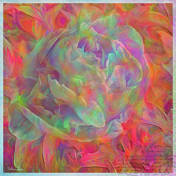 Photograph - Rainbow Magic Peony by Anna Louise