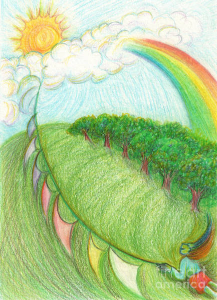 Jrr Drawing - Rainbow Maker By Jrr by First Star Art