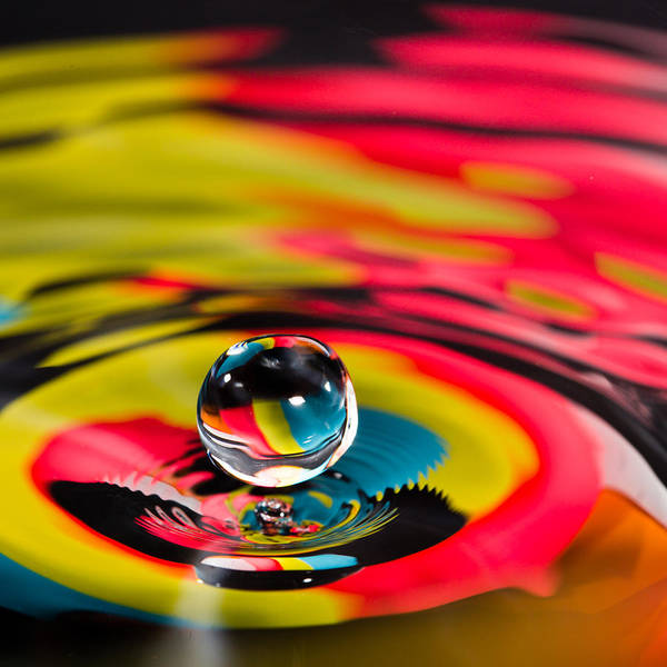 Photograph - Rainbow Marble Water Drop by SR Green