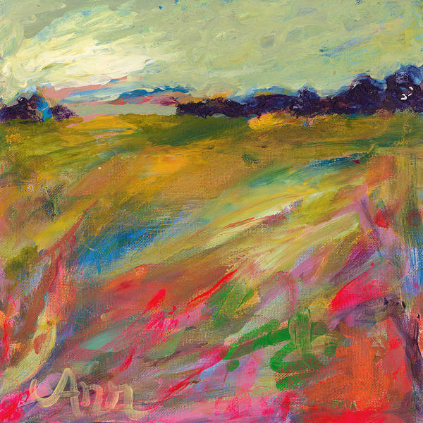 Wall Art - Painting - Rainbow Marsh by Ann Lutz