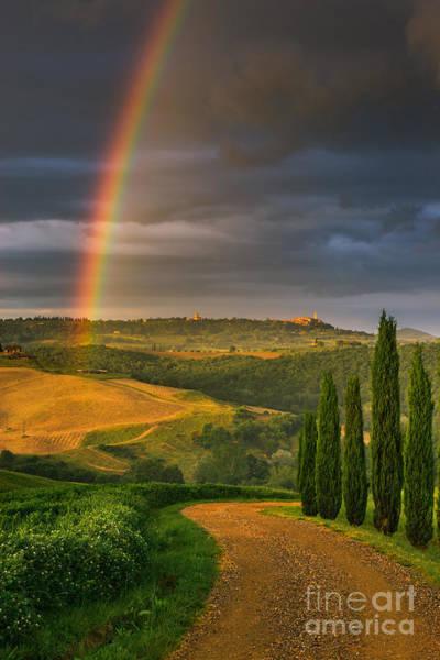 Meijer Wall Art - Photograph - Rainbow Near Pienza, Tuscany, Italy by Henk Meijer Photography
