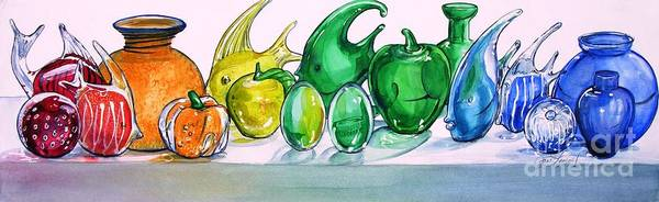 Painting - Rainbow Of Glass by Jane Loveall