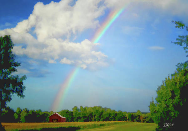 Digital Art - Rainbow On The Farm by Bonnie Willis