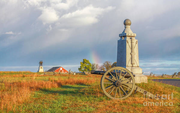 Gettysburg Battlefield Photograph - Rainbow On The Gettysburg Battlefield Two by Randy Steele
