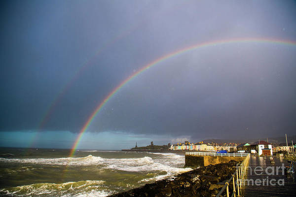 Photograph - Rainbow Over Aberystwyth  by Keith Morris