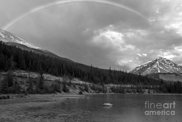 Photograph - Rainbow Over Beauty Creek Black And White by Adam Jewell