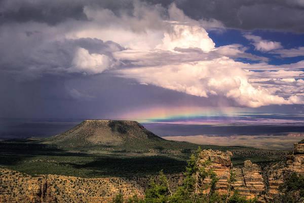 Photograph - Rainbow Over Cedar Mountain by Claudia Abbott