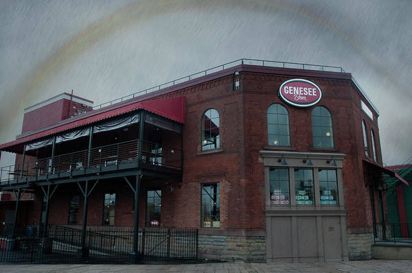 Digital Art - Rainbow Over Genesee Beer by Ed Cabral