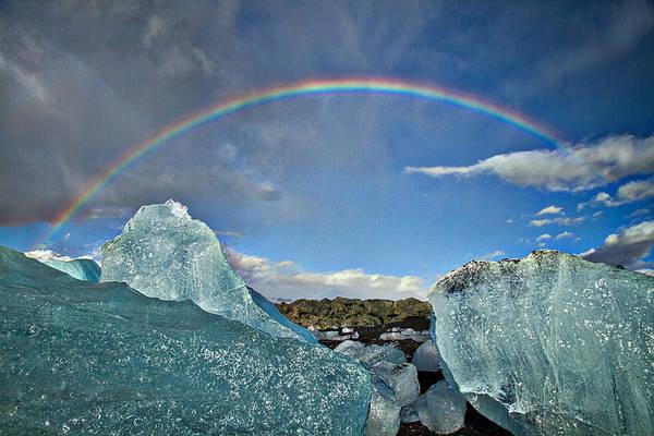 Photograph - Rainbow Over Icebergs by Stuart Litoff