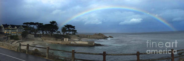 Photograph - Rainbow Over Lovers Point Pacific Grove 2015 by California Views Archives Mr Pat Hathaway Archives