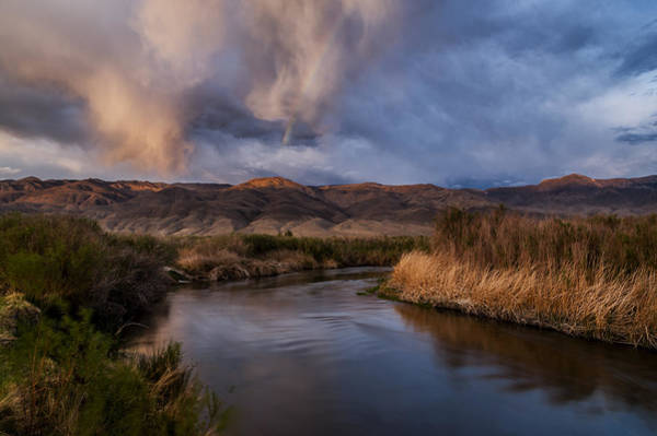 California Adventure Photograph - Rainbow Over Lower Owens River by Cat Connor