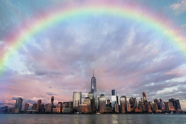 Photograph - Rainbow Over Manhattan by Ericamaxine Price