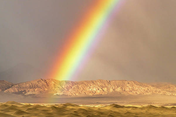 Photograph - Rainbow Over Mesquite Dunes by Bill Gallagher