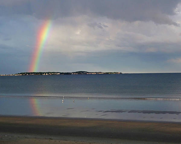 Photograph - Rainbow Over Nahant From Revere Beach Revere Ma North Shore by Toby McGuire