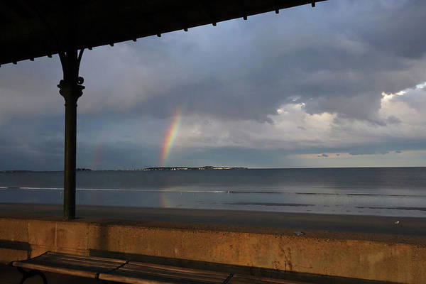 Photograph - Rainbow Over Nahant From Revere Beach Revere Ma by Toby McGuire