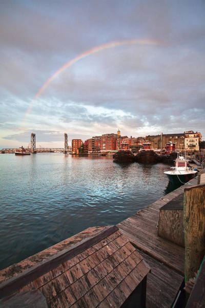 Wall Art - Photograph - Rainbow Over Portsmouth by Eric Gendron