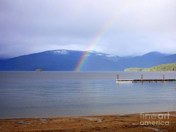 Priest Lake Photograph - Rainbow Over Priest Lake by Carol Groenen