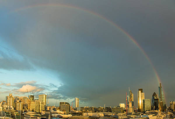 Photograph - Rainbow Over The City Of London by Gary Eason