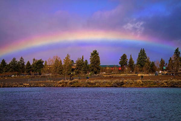 Photograph - Rainbow Over The Deschutes by Lynn Bauer