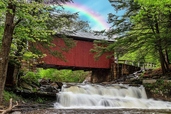 Somerset County Photograph - Rainbow Over The Pack Saddle Bridge by Rusty Glessner