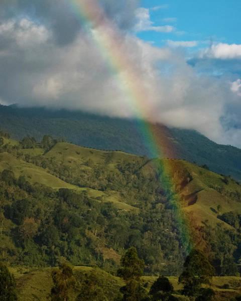 Photograph - Rainbow Over The Salento Valley Colombia by Adam Rainoff