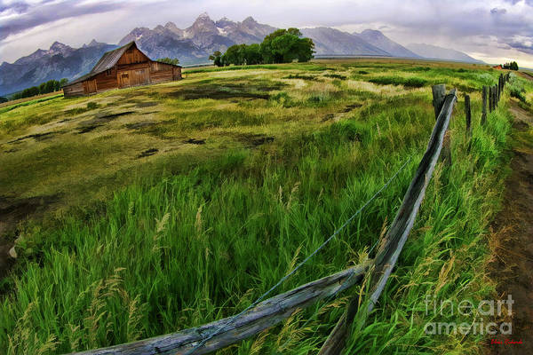 Photograph - Thomas Alma And Lucille Moulton Homestead Tetons by Blake Richards