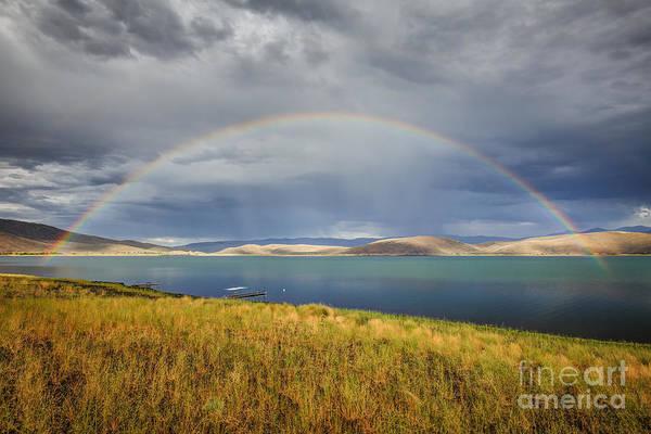 Douglas County Wall Art - Photograph - Rainbow Over Topaz Lake by Jeff Sullivan