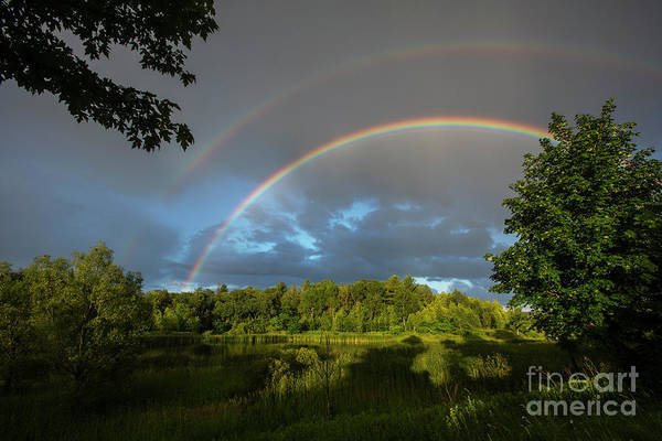Photograph - Rainbow Over Uxbridge-4828 by Steve Somerville