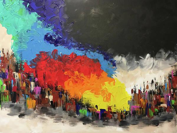 Wall Art - Painting - Rainbow Over Vegas Strip by Mac Worthington
