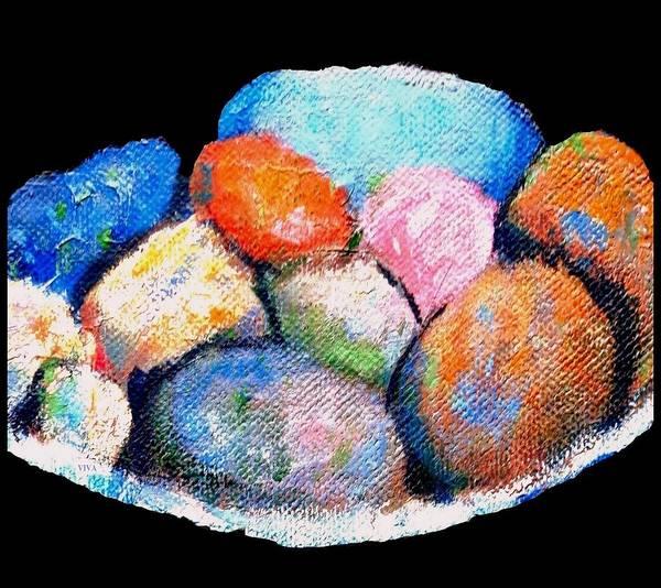 Painting - Rainbow Pebbles by VIVA Anderson