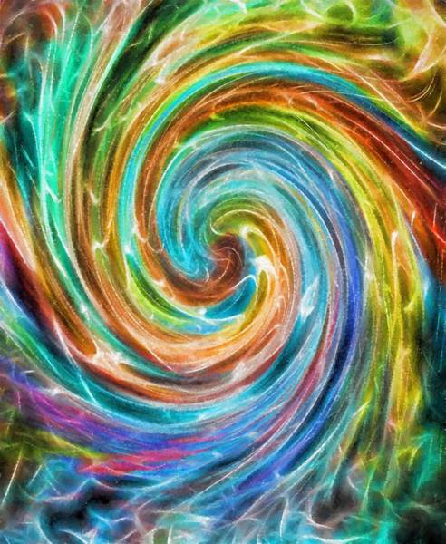 Wall Art - Painting - Rainbow Portal by Dan Sproul