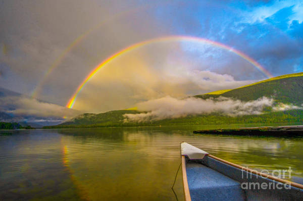Nelson Bc Photograph - Rainbow Reflection Ride II by Joy McAdams