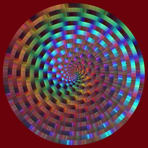 Digital Art - Rainbow Rings Spiral by Ruth Moratz