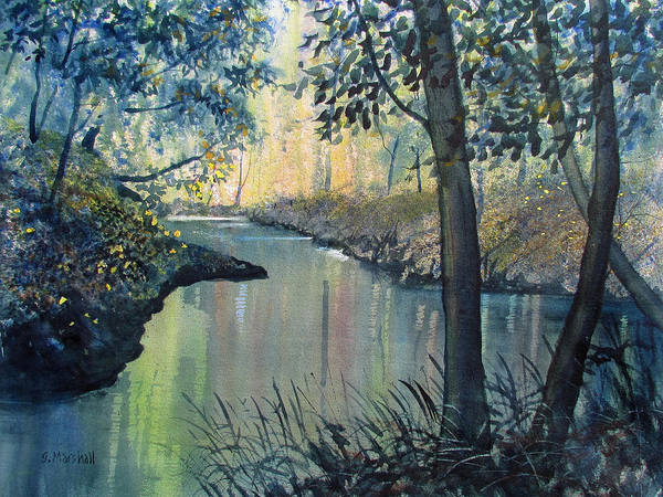 Painting - Rainbow River by Glenn Marshall