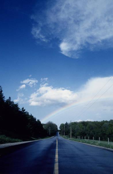 Rainbow Road Blue Sky Art Print