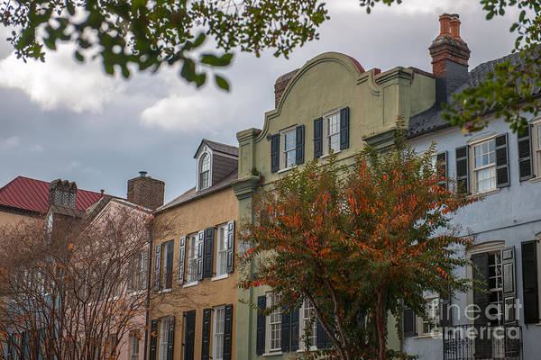 Photograph - Rainbow Row Battery Homes In Charleston  by Dale Powell
