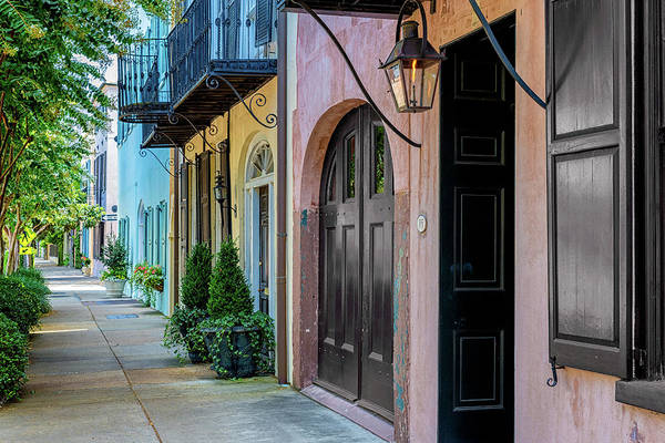 Wall Art - Photograph - Rainbow Row - Charleston, Sc by Drew Castelhano