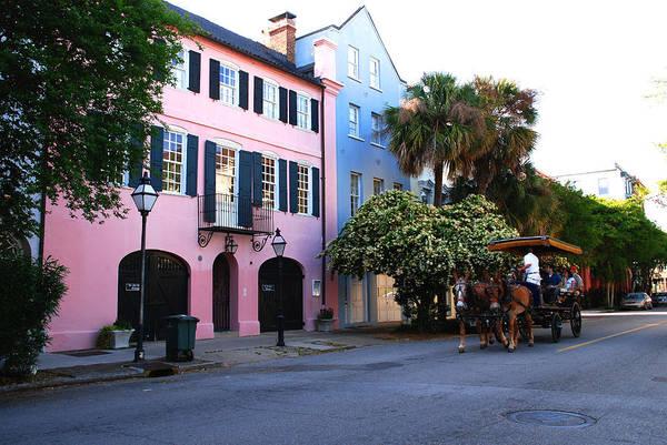 Photograph - Rainbow Row Charleston by Susanne Van Hulst