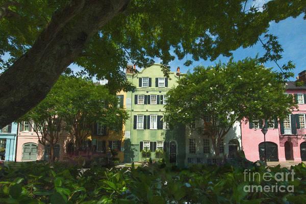 Photograph - Rainbow Row In Charleston South Carolina by Dale Powell