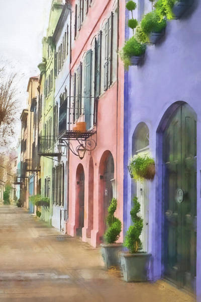 Wall Art - Photograph - Rainbow Row by Kathy Jennings